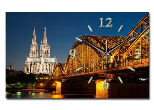 Köln Designer Funk Wanduhr Funkuhr modernes Design * Made in Germany* WA159F