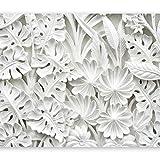 murando - Fototapete Blätter 400x280 cm - Vlies Tapete - Moderne Wanddeko - Design Tapete - Wandtapete - Wand Dekoration - weiß f-B-0038-a-a