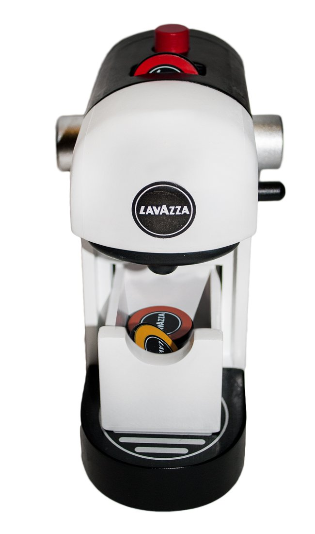 51KcVVTxsWL - Tanner 0994.1 Lavazza coffee machine, original wooden with realistic game functions, white