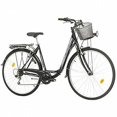 Multibrand Probike 28 City Zoll Fahrrad 7-Gang Urbane Cityräder for Heren, Damen, Unisex Schwarz 510 mm