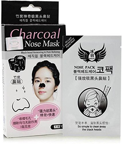 Refinado Poros Nariz máscara 10pcs gris negro Jefes