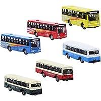 Croch 6pcs Diecast Modelo De Autobús Tren Trazado Ferroviario Paisaje N