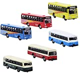 Evemodel 6pcs Diecast Model Bus Car 1:160 Train Layout N