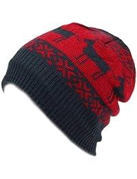 Hawkins FODERA PILE FINE Berretto lavorato a maglia cappello con renna di  Natale design 3747df61d1c5