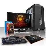 Fierce EXILE Gaming PC Bundeln - Schnell 6 x 4.1GHz Hex-Core AMD FX-6300, 1TB Festplatte, 16GB von 1600MHz DDR3 RAM / Speicher, NVIDIA GeForce GTX 1050 Ti 4GB, ASUS M5A78L-M LX3 Hauptplatine, GameMax Centauri Schwarz Computergehäuse/Blau Fans, HDMI, USB3, Wi - Fi, Perfekt für Wettkampfspiele, Windows 10 installiert, Tastatur (VK/QWERTY), Maus, 21.5-Zoll-Monitor, Headset, 3 Jahre Garantie 428278
