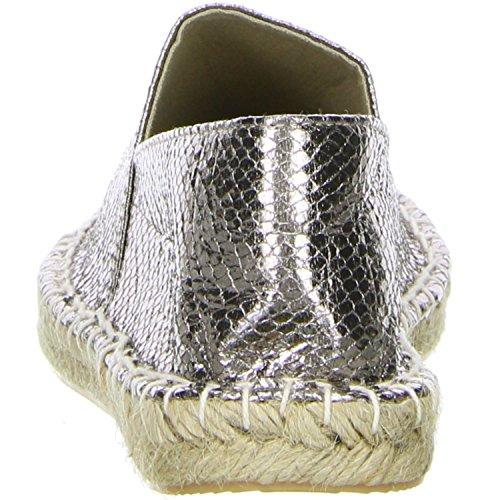 Linzi Damen Espadrilles silber Silber