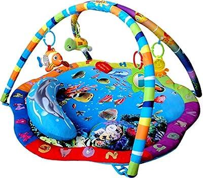 Inside Out Toys - Gimnasio con alfombra musical de juegos y actividades - Diseño mundo submarino