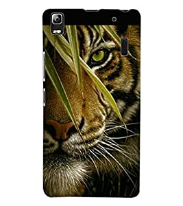 ColourCraft Tiger Look Design Back Case Cover for LENOVO A7000 TURBO