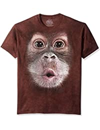 The Mountain Unisex Baby Orangutan Face Short Sleeve T-Shirt, braun, 2XL