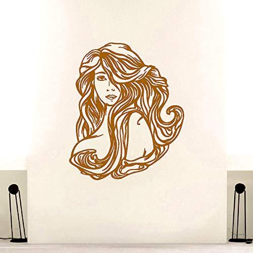 Sexy Frau Mädchen Vinyl Wandaufkleber Aufkleber Schönheit Friseursalon Friseur Friseur Kunst Raumdekoration N 42 * 50 cm - Sexy Schimmer