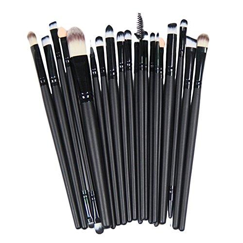 LianLe®20PCS Maquillage de base Brosse Eye Pinceaux Blend Fard à paupières angulaire Eyeliner fumé