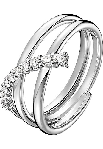 CHRIST Diamonds Damen-Damenring 585er Weißgold 11 Diamant 54 Weißgold 32005176