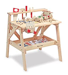 Melissa & Doug Wooden Project Workbench Play Building Set