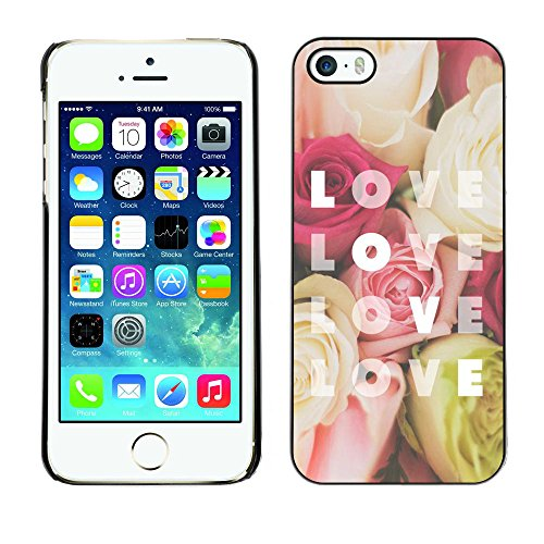Ziland / Premium Slim HD plastique et d'aluminium Coque Cas Case Drapeau Cover / Rose Yellow Red Flowers / Apple iPhone 5 / 5S