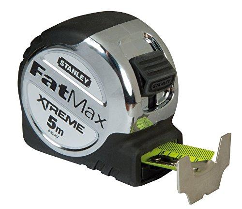 Stanley FatMax Xtreme Bandmass, Blade Armor Pro (5 m Länge, 32 mm Breite, automatischer Rücklauf, Gürtel-Clip) 0-33-887