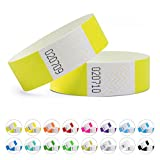 linie zwo®, Lot de 100 bracelets d'identification Tyvek® 19 mm, Jaune néon