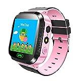 Jslai Enfants Smart GPS Montre Touch Smartwatch GPS Kid Tracker pour les Enfants Filles Garçons Cadeau d'anniversaire avec la caméra SIM Appelle Anti-perdu SOS GPS Smartwatch pour iPhone Android
