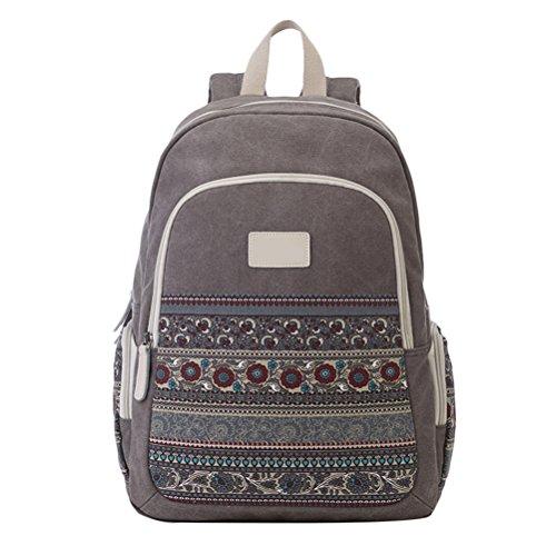 Zhuhaitf Leicht Durable Women Lightweight Backpack Laptop Bag Canvas Daypack for Teens Girls Students (Bag School 2)