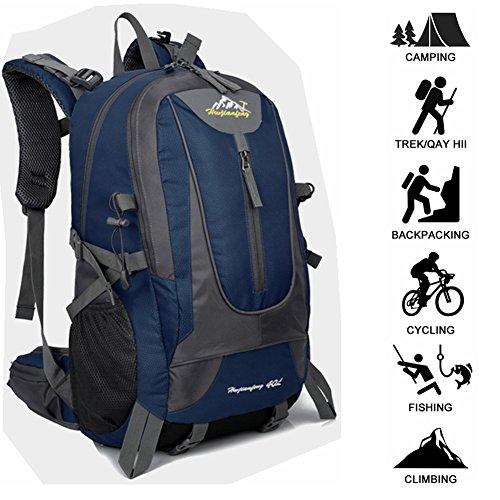 40L Mens Outdoor Waterproof Breathable Sports Backpack Travel Hiking Camping Rucksack Bike Bag Best Christmas Gift