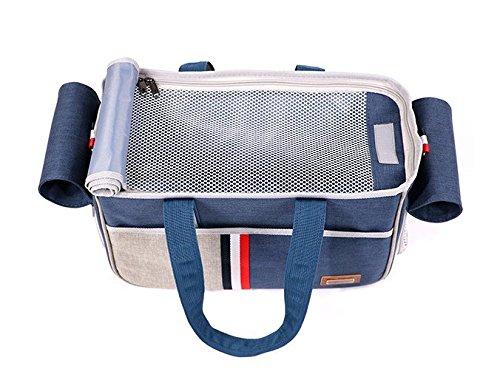 BENWEI Classics Pet Carrier,Portable Dog Cat Handbag Outdoor Soft Sided Pet Shoulder Bag Foldable Travel Tote,Under Seat… 15