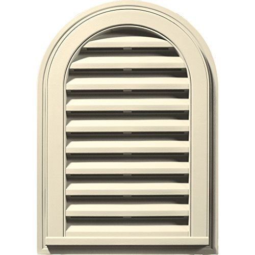 Builders Edge 120081422020 14 x 22 Round Vent Top 020, Heritage Cream by Builders Edge - Heritage Top