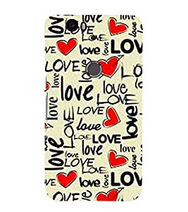 Vizagbeats Love and hearts Back Case Cover for Huawei Google Nexus 6P