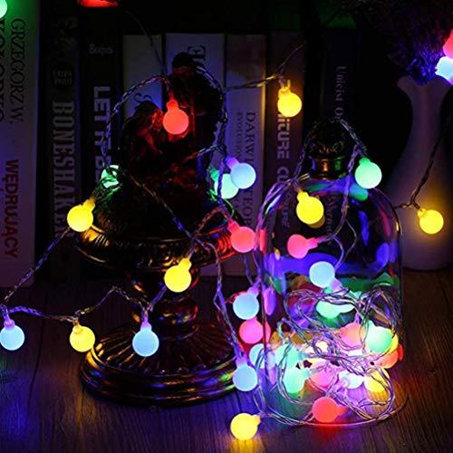 Hihey Luces de hadas Luces de hadas coloridas, Control remoto Con bombilla, Luces de Navidad para la Fiesta de bodas de Navidad Árbol de Navidad