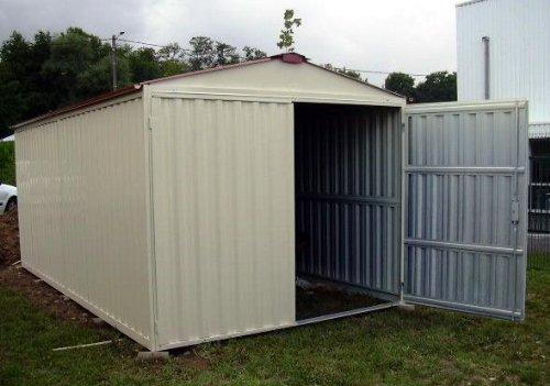 Casetta Giardino In Lamiera : Box casetta in lamiera zincata con struttura in acciaio zincato mt