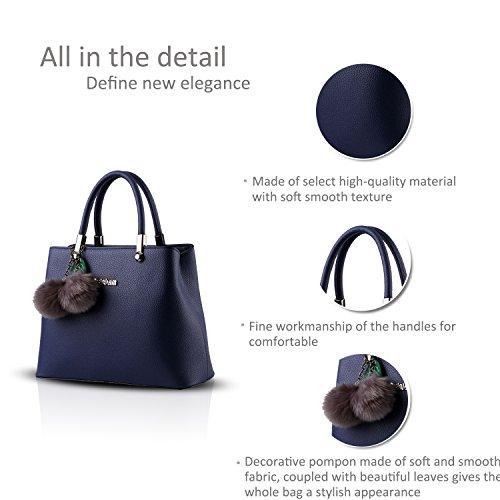 NICOLE&DORIS nuovo sacchetto di palle di pelo femminile coreano Borsa a tracolla Messenger pensili(Sapphire) Sapphire
