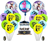 Fortnite Video Game Party Supplies Happy Birthday Cake Banners Topper Favors Foil Latex Balloons Video Gaming