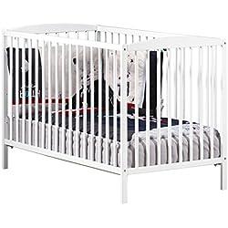 Baby Price New Nao bebé con cuna, 3posiciones, 120x 60cm, color blanco