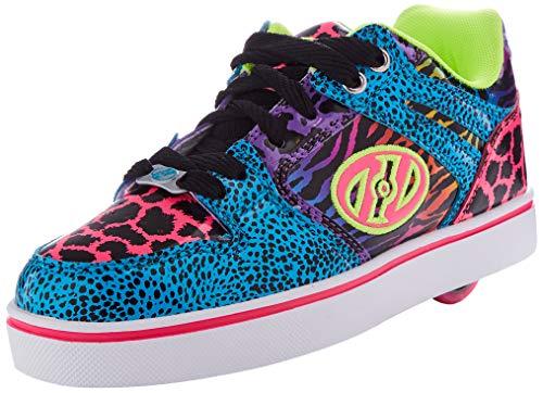 Heelys Mädchen Motion 2.0 Sneaker, Mehrfarbig (White/Black/Tan/Animal Print White/Black/Tan/Animal Print), 34 EU