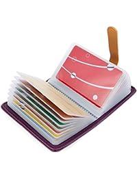 10 Colores Tarjetero para Tarjeta de Credito Cuero para Mujer Hombre - 26 Tarjetas