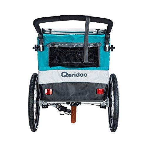 QERIDOO Fahrradanhänger Sportrex1 Design 2018 blau OneSize - 5