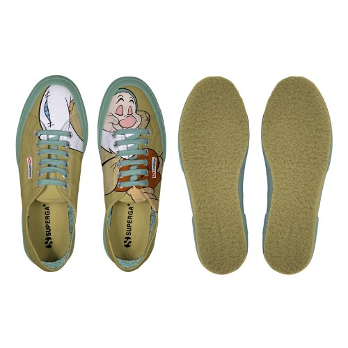Chaussures Le Superga - Cartoon 2750-disney Pisolocobw Beige - Camel