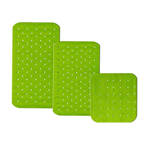 casa pura® Wanneneinlage Relax   mit Massagenoppen   apfelgrün  schadstoffgeprüft   als Badewanneneinlage und Duschmatte erhältlich   3 Größen (43x45 cm)