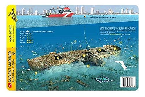 Deerfield Wreck Trek & Ancient Mariner Broward County Florida Waterproof Dive Card (County Karte Florida Von)