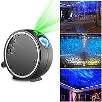 LED Luce Proiettore, Kingtoys Romantico Cielo stellato Lampada Proiettore,La luce ruota a 360 gradi,9 modalità di commutazione arbitraria,Luce di Notte per Rilassarsi ed Addormentarsi