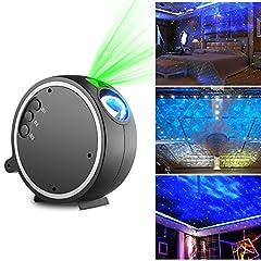 Idea Regalo - LED Luce Proiettore, Kingtoys Romantico Cielo stellato Lampada Proiettore,La luce ruota a 360 gradi,9 modalità di commutazione arbitraria,Luce di Notte per Rilassarsi ed Addormentarsi