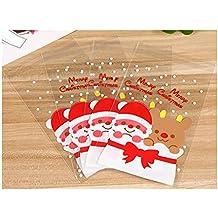 Idee Per Confezionare Biscotti Di Natale.Amazon It Sacchetti Natale Biscotti