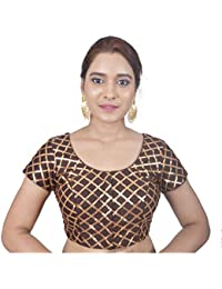 8835461c76a6d Areum Womens Banglori Silk Embroided Designer Princess Cut Cap Sleeves  Padded Readymade Saree Blouse(Embroidered