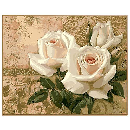 WACYDSD Puzzle 3D Puzzle 1000 Piezas Peonía Blanca Fotos De Trabajo Bricolaje De Hermosas Flores Decoración del Hogar Arte De La Pared