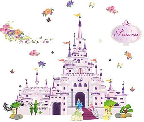 Minkoll Wandaufkleber, Aufkleber DIY Haus Zimmer Dekoration Mädchen Prinzessin Schloss Wandaufkleber Abnehmbare Wandbild (Prinzessin Schloss Dekoration)