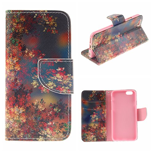 MOONCASE iPhone 6 Plus / 6S Plus Coque, Printing Series Case Étui en Cuir Portefeuille Housse de Protection Etui à rabat Cover pour Apple iPhone 6 Plus / 6S Plus (5.5 inch) TX14 TX10 #0401