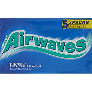 Wrigley's Airwaves Menthol And Eucalyptus Gum 5x10 pieces