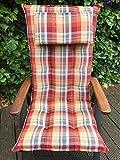 Sun Garden Hochlehnerauflage mit abnehmbarem Kopfpolster Dessin Sylt 10435-430 Maße ca.120x50x9 cm (nur Auflagen ohne Stuhl)