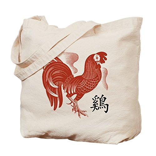 CafePress-Chinesisches Sternzeichen Hahn Papercut-Leinwand Natur Tasche, Reinigungstuch Einkaufstasche, canvas, khaki, M - Hahn Neuheit