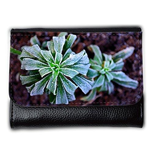 Cartera unisex // M00156501 Gelo di inverno pianta stagionale Macro // Medium Size Wallet