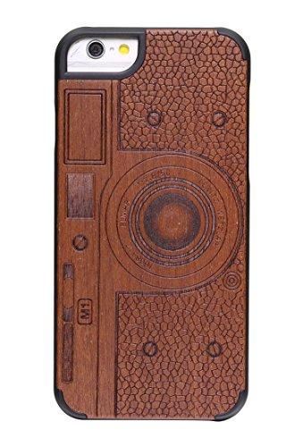 """SunSmart Housses classique en bois iPhone 6 Plus Housse en bois naturel de protection pour iPhone Plus 5.5""""-26 32"""