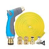 YCGDZ Hochdruckwasserpistole-Schlauch-Düsen-Satz, kupferner Verbindungsstück, große Verschiebung, Garten-Bewässerung, Waschanlage (größe : 20m)